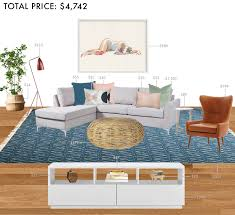 budget rooms colorful living room with sectional emily henderson