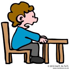 Student Desk Clipart Person Sitting Down Clipart 37
