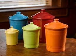 colorful kitchen canisters 939 best canister sets images on canister sets