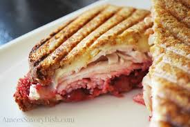 sprouted grain turkey cranberry brie panini sundaysupper