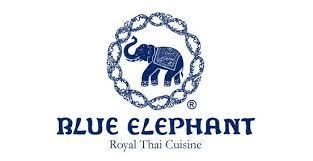 logo de cuisine premium groceries blue elephant