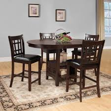 Round Dining Room Set Furniture Of America Fort Wooden 5 Piece Counter Height Round