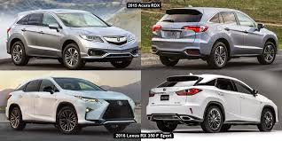acura rdx vs lexus rx benim otomobilim 2015 acura rdx vs 2016 lexus rx 350 f sport