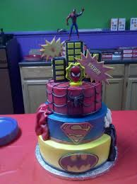 4 year old superheroes birthday cake my take on the superheroes