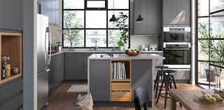 ikea black kitchen cupboards modern gray kitchen cabinets voxtorp series ikea