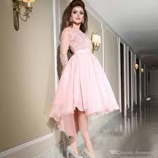 pink dress sheer sleeve light pink prom dresses 2017 applique beaded