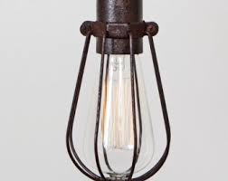 industrial cage light bulb cover cage only basic wire bulb cage pendant sold separately