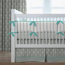 Nursery Bedding For Girls Modern by Gray And Teal Arrow Baby Crib Bedding Carousel Designs Crib