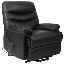 amazon com merax power recliner and lift chair in black pu