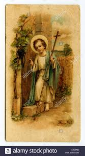 baby jesus holding a cross knocking on a door devotional image
