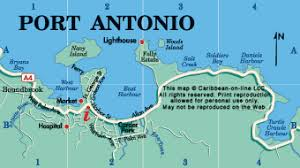 map usa to jamaica port antonio map map of port antonio jamaica from caribbean on line
