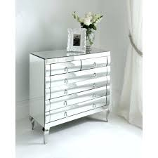 Nightstands With Mirrored Drawers Dressers Mirrored Dressing Table With 2 Drawers Black Dresser
