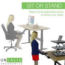 Standing Desk Ergonomic U0026 Adjustable Height Keyboard Tray Standing Desk