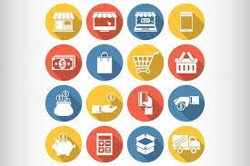 creative font design online online shopping icons by saggitarius on creative market creative