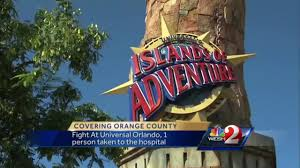 halloween horror nights islands of adventure fight breaks out at universal orlando islands of adventure youtube