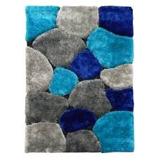 5 By 7 Rug A Bold Abstract Color Block Design Decorates This Rug With An Eye