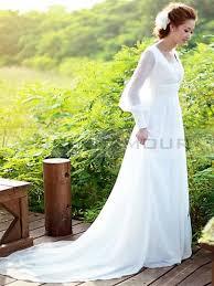 robe mariã e manche longue robe de mariée elégant a ligne mousseline manches longues longue carré