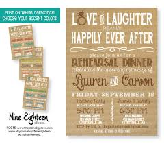 rehearsal dinner invitation and laughter before the happily