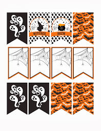 free party printable halloween mini banner