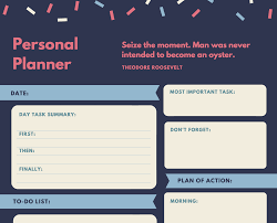 free online personal planner maker design a custom personal