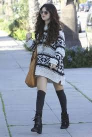 selena gomez sweater sweater dress socks she s so boho 29 of selena gomez s
