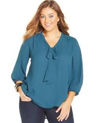 bow tie blouse plus size alfani plus size sheer sleeve beaded neck top plus sizes macy s