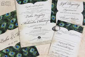 wedding invitation set vintage peacock feathers wedding invitation set my big day