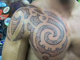 tribal tattoos on shoulder and chest photo pictures images