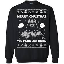 wars sweater wars merry you filthy jedi rebel sweater