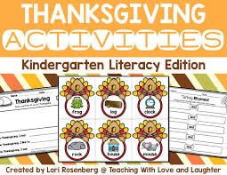 teaching with and laughter thanksgiving literacy center