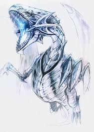 blue eyes white dragon by ink leviathan on deviantart