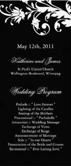 customizable wedding programs black and white damask wedding programs 8 5 x 11 flyer