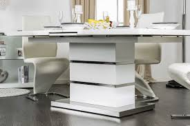 White Lacquer Dining Table by Furniture Of America Cm3650t White Lacquer Coated Pedestal Base