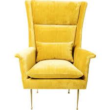Esszimmer Ohrensessel Sessel Vegas Forever Gelb Kare Design