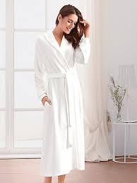 peignoir de chambre hahn la robe de chambre en velours ras avec ceinture chagne