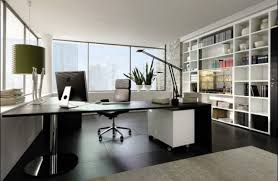 warm lamp modern offices floor plans with wooden floor with white