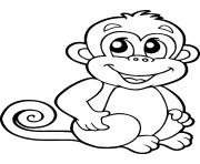 coloriage bebe singe jecolorie com
