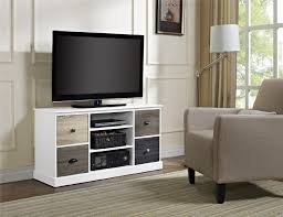 Tv Stands For 50 Inch Flat Screen Dorel Mercer White Storage Tv Console With Multicolored Door Fronts