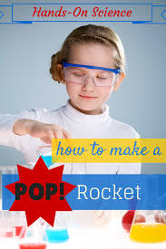 cool science experiments how to build a pop rocket