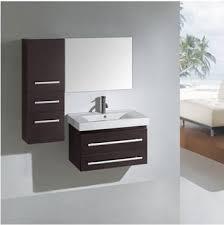 28 Bathroom Vanity With Sink Virtu Antonio 28 Inch Wall Mounted Bathroom Vanity Set