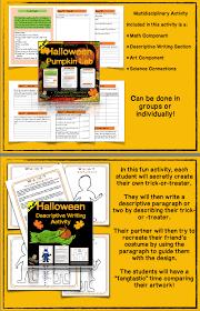halloween activities descriptive writing with pumpkin lab