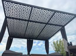 Aluminum Pergola Manufacturers by Pergola Screening U0026 Columns Aesthetic Metals