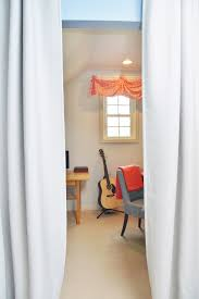 Office Curtain by Home Office Makeover In Coral And Blue Heartworkorg Com