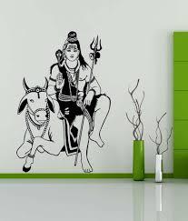 Wwe Wall Stickers Trends On Wall Black Pvc Bhagwan Shiv Wall Sticker Buy Trends On