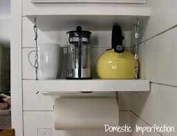 Under Cabinet Shelf Kitchen How To Raise Your Cabinets U0026 Add A Shelf Domestic Imperfection