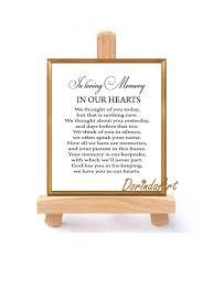wedding keepsake quotes wedding memorial table in loving memory printable memorial