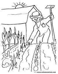 spring garden coloring page create a printout or activity
