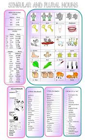 26 free esl singular and plural worksheets