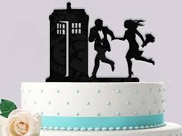 tardis cake topper hurry to the call box wedding cake topper handmade
