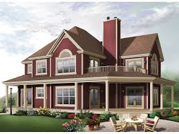 Farmhouse With Wrap Around Porch Farmhouse Complete With A Wrap Around Porch And Balcony Love
